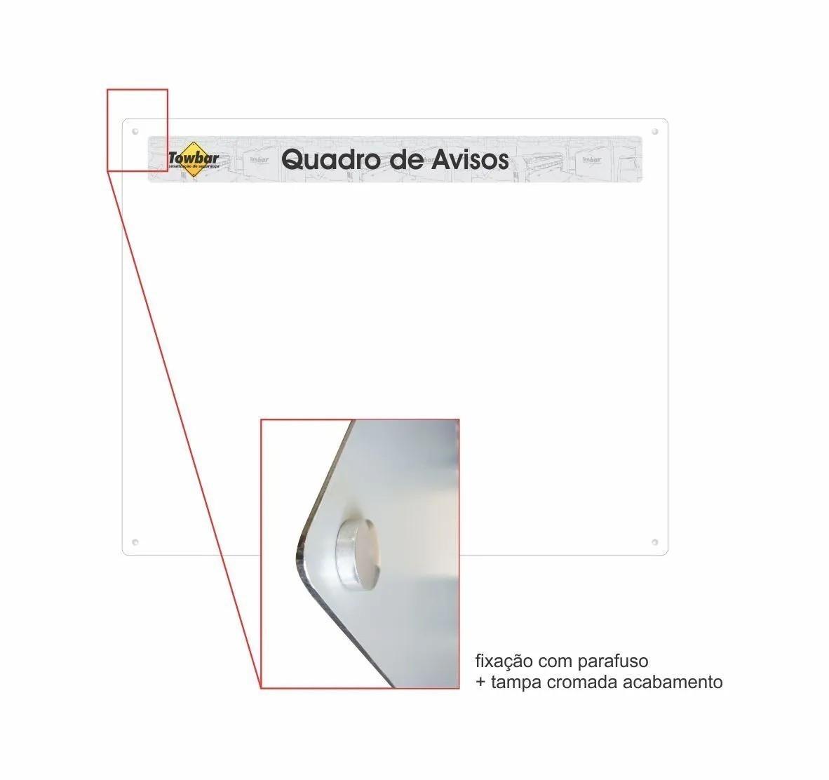 Quadro de informações com 10 porta folhas  - Towbar Sinalização de Segurança