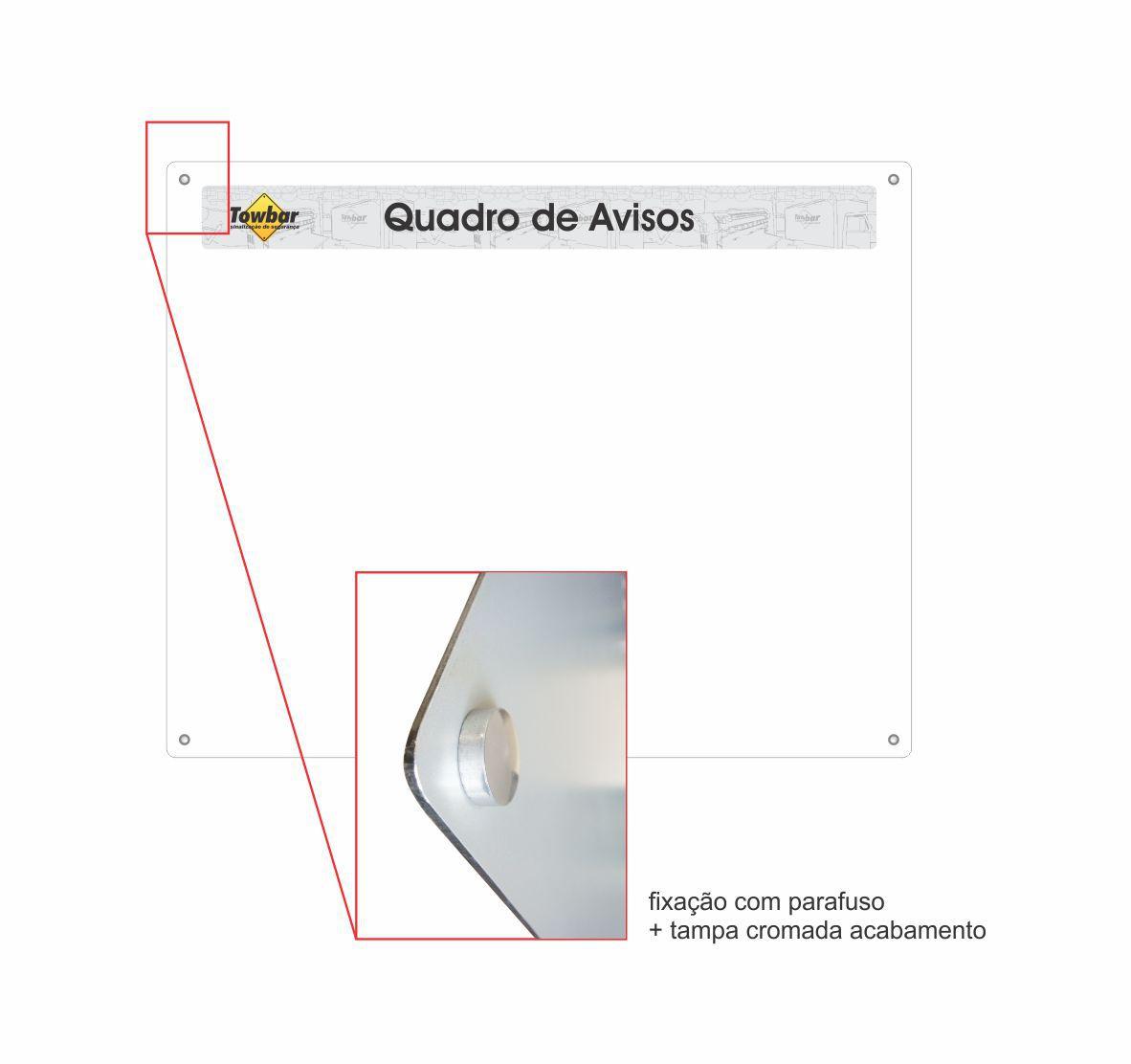 Quadro de informações com 4 porta folhas  - Towbar Sinalização de Segurança