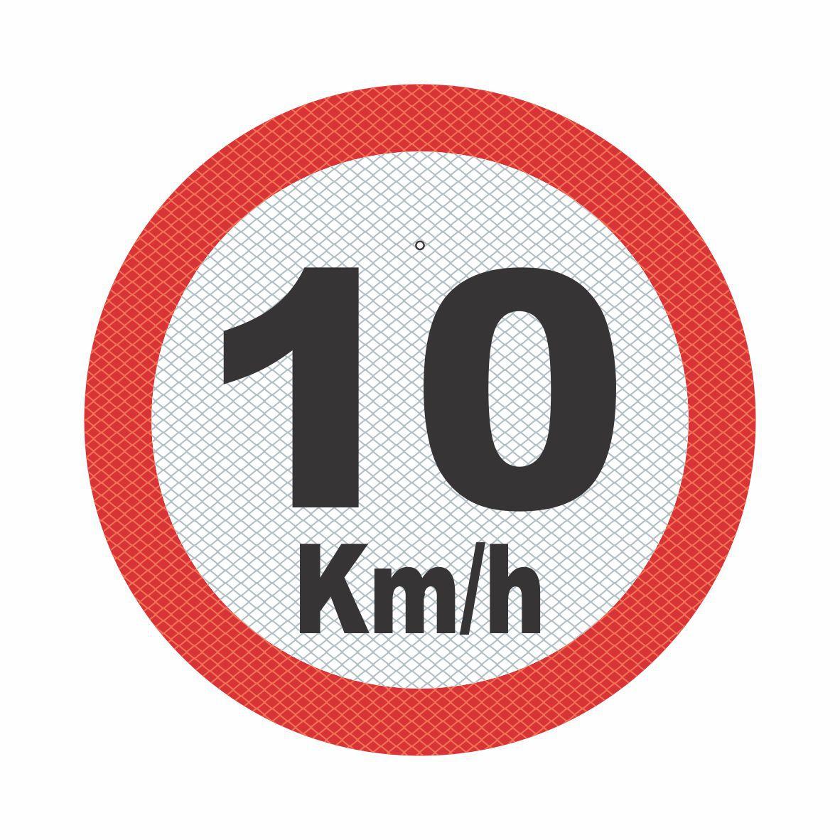 R-19_1 - VELOCIDADE MÁXIMA PERMITIDA - 10 Kmh  - Towbar Sinalização de Segurança