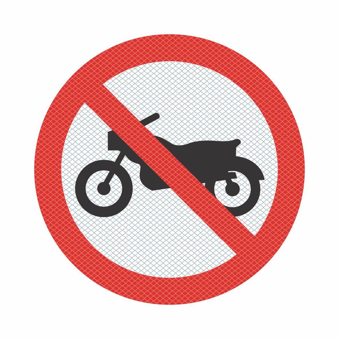 R-37 - Proibido Trânsito de Motocicletas, Motonetas e Ciclomotores  - Towbar Sinalização de Segurança
