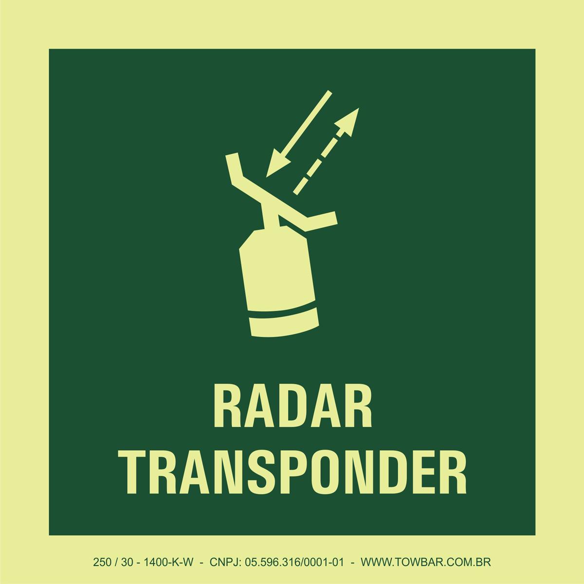 Radar Transponder  - Towbar Sinalização de Segurança
