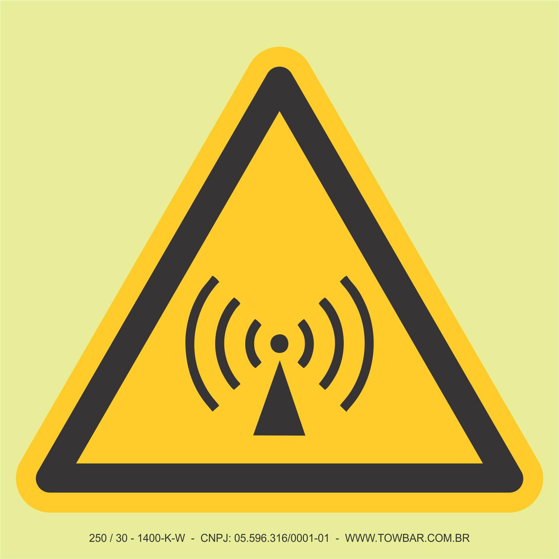 Radiação não ionizante  - Towbar Sinalização de Segurança
