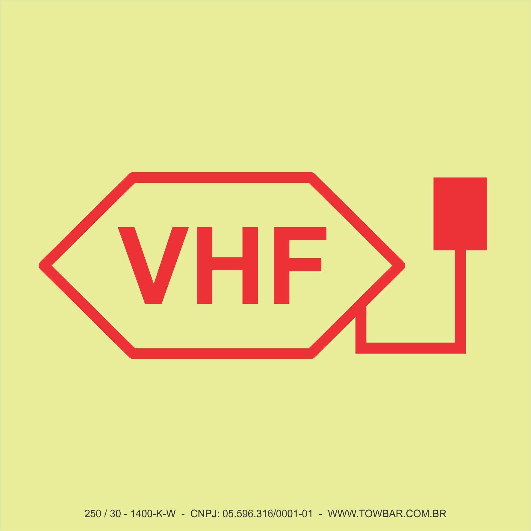 Rádio VHF  - Towbar Sinalização de Segurança