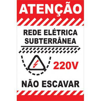 Rede Elétrica - Subterrânea  - Towbar Sinalização de Segurança