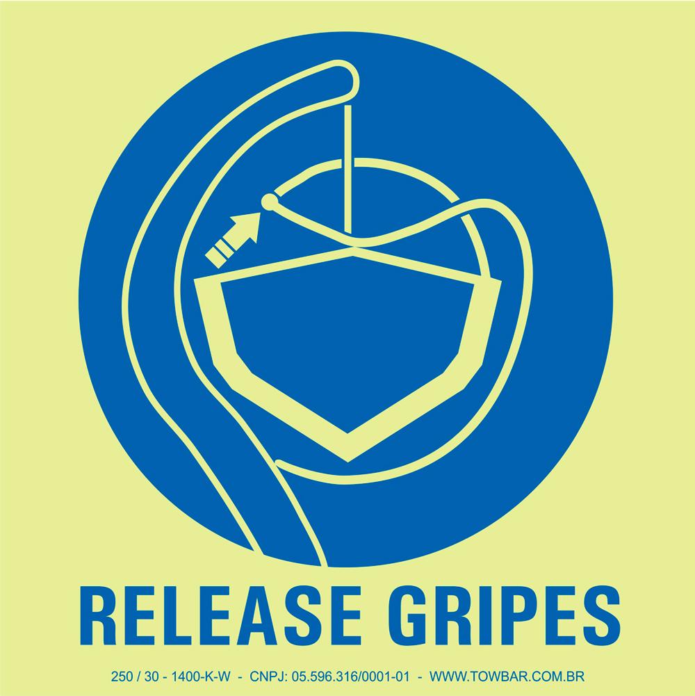 Soltar armações (Release Gripes)  - Towbar Sinalização de Segurança