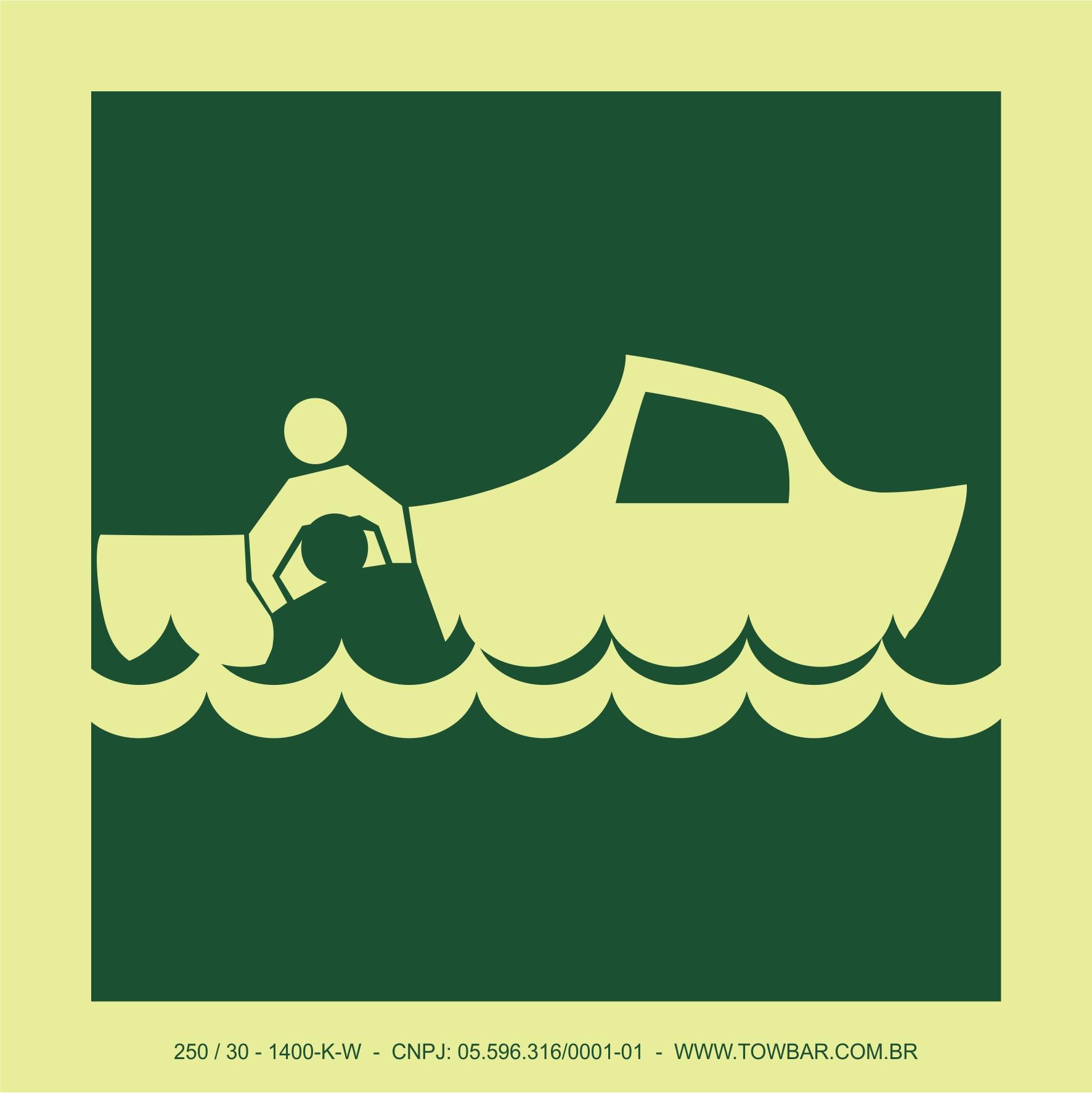 Rescue Boat  - Towbar Sinalização de Segurança