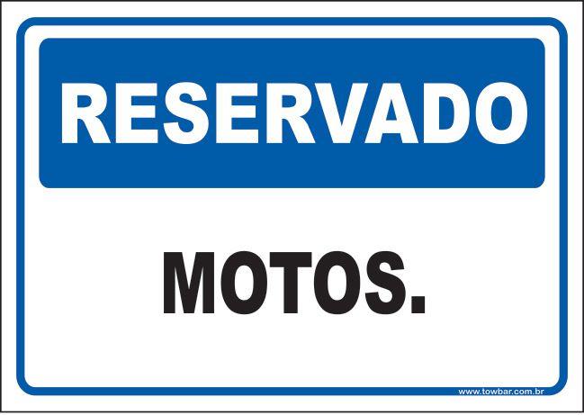 Reservado motos  - Towbar Sinalização de Segurança