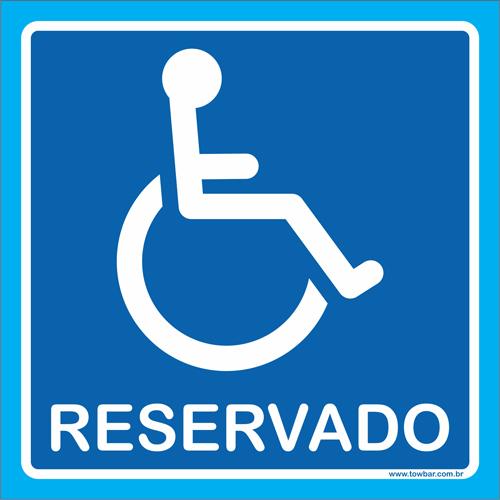 Placa reservado para cadeirante  - Towbar Sinalização de Segurança