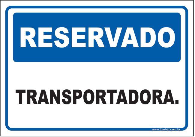 Reservado transportadora  - Towbar Sinalização de Segurança