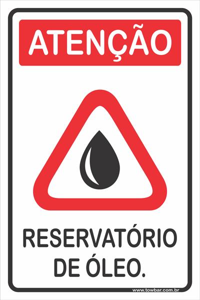 Reservatório de Óleo  - Towbar Sinalização de Segurança