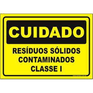Resíduos sólidos contaminados classe I  - Towbar Sinalização de Segurança