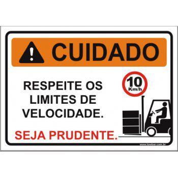 Respeite os limites de velocidade  - Towbar Sinalização de Segurança