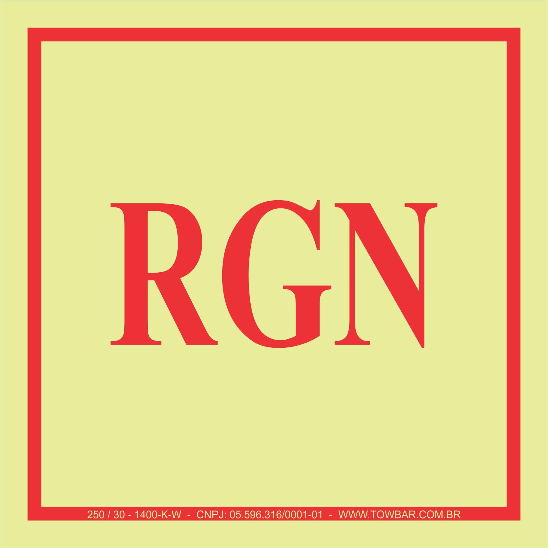 RGN  - Towbar Sinalização de Segurança