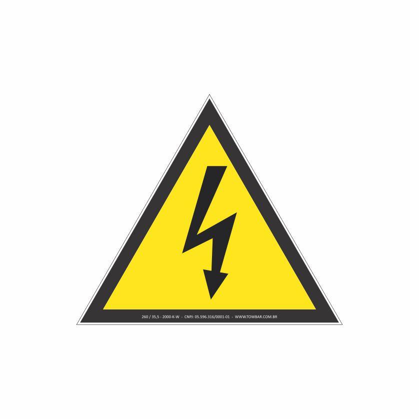 Risco de choque elétrico  - Towbar Sinalização de Segurança