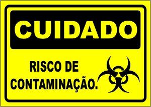 Risco de contaminação  - Towbar Sinalização de Segurança
