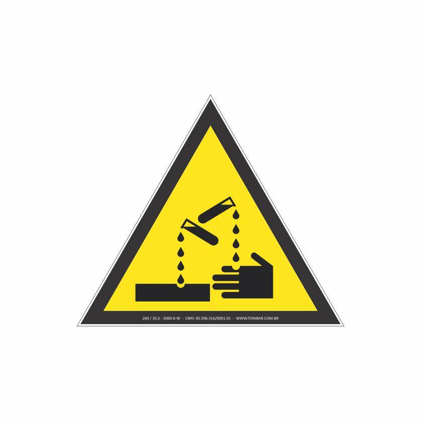 Risco de corrosão  - Towbar Sinalização de Segurança