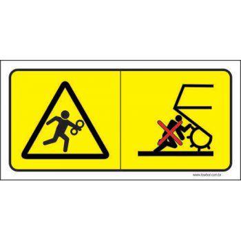 Risco de Esmagamento - Favor Manter Distância  - Towbar Sinalização de Segurança