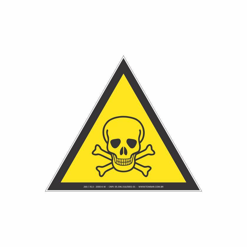 Risco de exposição de produtos tóxicos  - Towbar Sinalização de Segurança