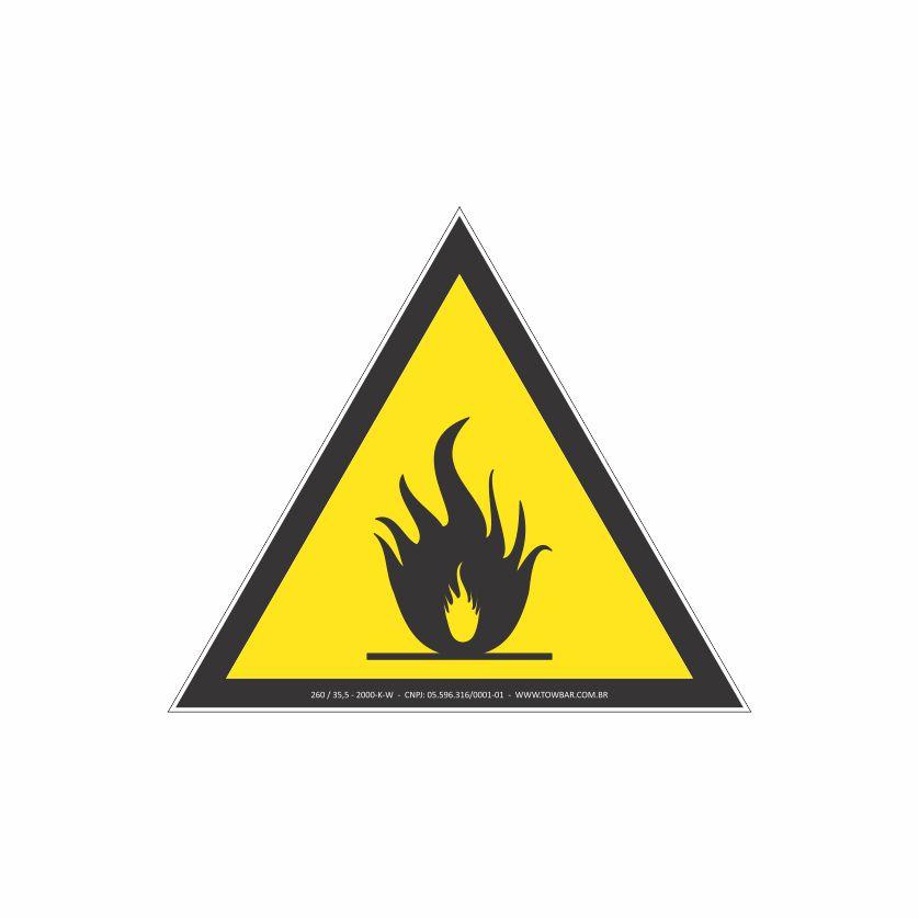 Risco de incêndio  - Towbar Sinalização de Segurança
