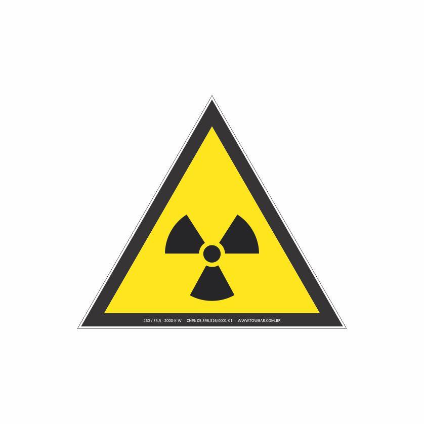 Risco de radiação  - Towbar Sinalização de Segurança