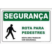 Rota para Pedestres  - Towbar Sinalização de Segurança