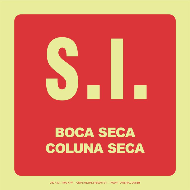 S.I. Boca Seca - Coluna Seca   - Towbar Sinalização de Segurança