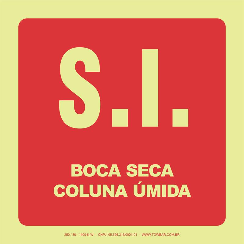 S.I. Boca Seca - Coluna Úmida   - Towbar Sinalização de Segurança