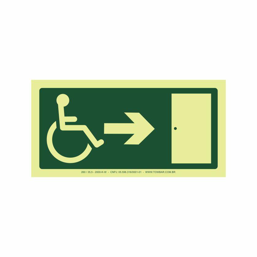 Saída a direita acessível  - Towbar Sinalização de Segurança