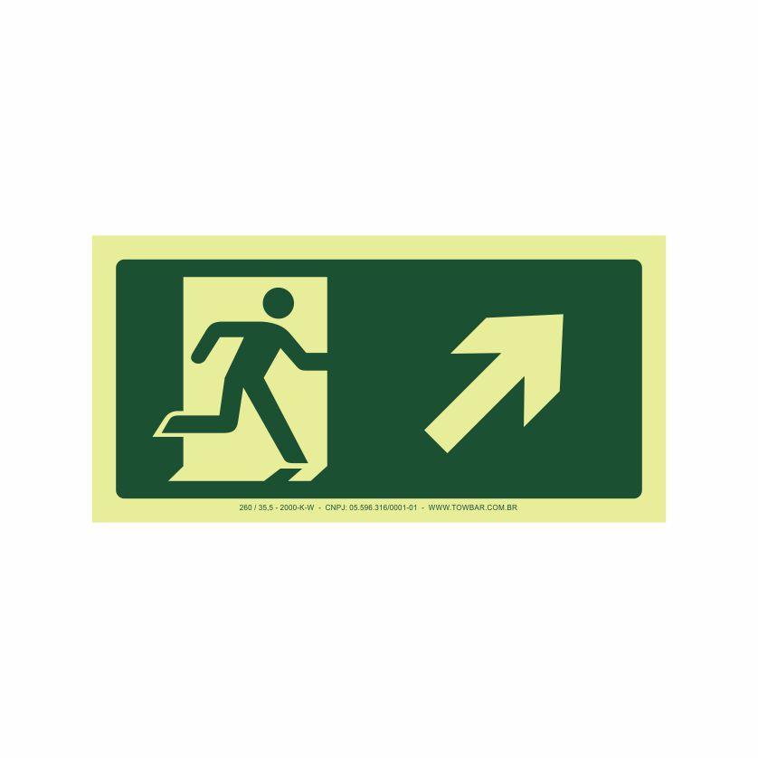 Saída a direita acima  - Towbar Sinalização de Segurança