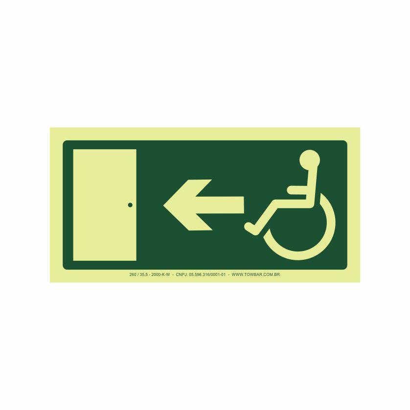 Saída a esquerda acessível  - Towbar Sinalização de Segurança