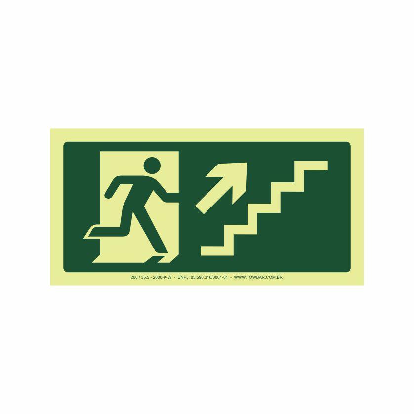 Saída escada direita acima  - Towbar Sinalização de Segurança