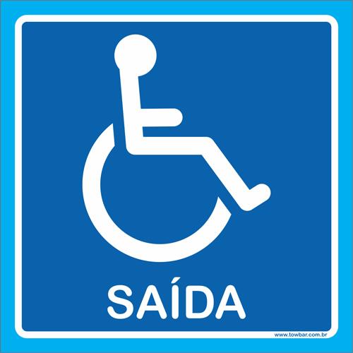 placa saída para cadeirante  - Towbar Sinalização de Segurança