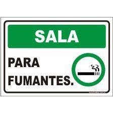 Sala para fumantes  - Towbar Sinalização de Segurança