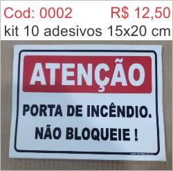 Saldão - Adesivo Porta de Incêndio, Não Bloqueie  - Towbar Sinalização de Segurança