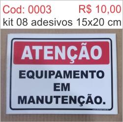 Saldão - Adesivo Equipamento em Manutenção  - Towbar Sinalização de Segurança