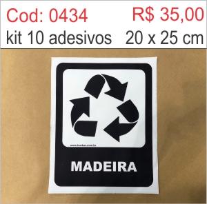 Saldão - Adesivo Lixo Madeira  - Towbar Sinalização de Segurança