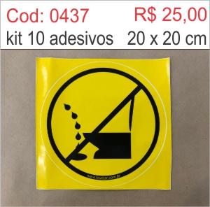 Saldão - Adesivo Não Urine no Chão  - Towbar Sinalização de Segurança
