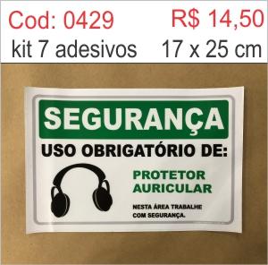 Saldão - Adesivo Uso Obrigatório de Protetor Auricular  - Towbar Sinalização de Segurança