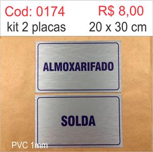 Saldão - Placa Almoxarifado e Solda  - Towbar Sinalização de Segurança