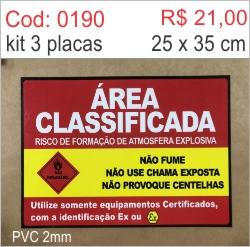 Saldão - Placa Área Classificada  - Towbar Sinalização de Segurança