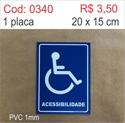 Saldão - Placa Acessibilidade para cadeirante  - Towbar Sinalização de Segurança