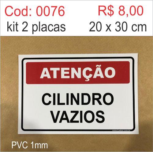 Saldão - Placa Atenção - Cilindro Vazios  - Towbar Sinalização de Segurança