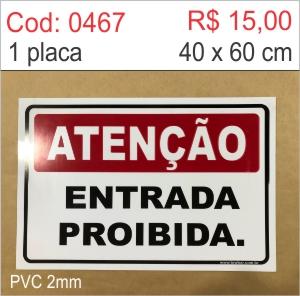 Saldão - Placa Atenção - Entrada proibida  - Towbar Sinalização de Segurança