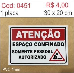 Saldão - Placa Atenção - Espaço confinado  - Towbar Sinalização de Segurança