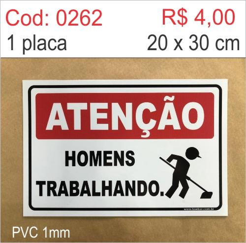 Saldão - Placa Atenção - Homens Trabalhando  - Towbar Sinalização de Segurança