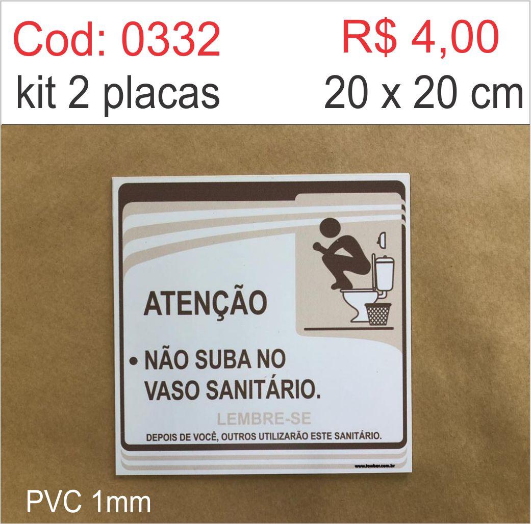Saldão - Placa  Atenção - Não Suba no Vaso Sanitário  - Towbar Sinalização de Segurança
