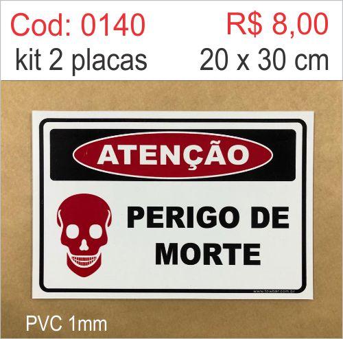 Saldão - Placa Atenção - Perigo de Morte  - Towbar Sinalização de Segurança