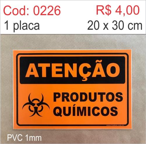Saldão - Placa Atenção - Produtos Químicos  - Towbar Sinalização de Segurança
