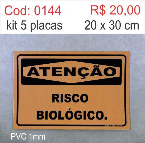 Saldão - Placa Atenção - Risco Biológico  - Towbar Sinalização de Segurança
