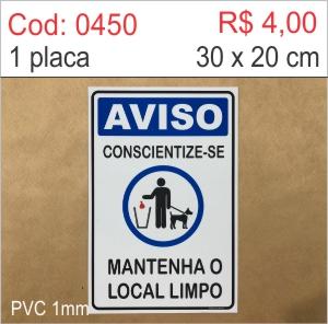 Saldão - Placa Aviso - Conscientize-se mantenha o local limpo  - Towbar Sinalização de Segurança